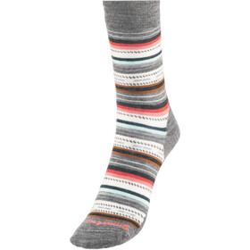 Smartwool Margarita Chaussettes Femme, medium gray heather-bright coral